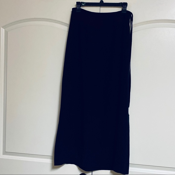 Banana Republic Dresses & Skirts - Banana Republic Black Silk Maxi Split Hem Skirt 6